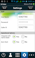 Screenshot of M Dialer-mobile