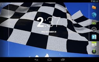 Screenshot of Racing Flag Live Wallpaper