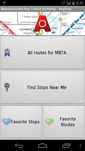 MBTA: AnyStop