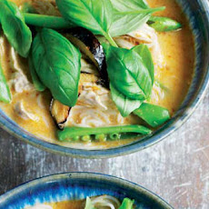 Noodle, Chicken And Aubergine Coconut Laksa