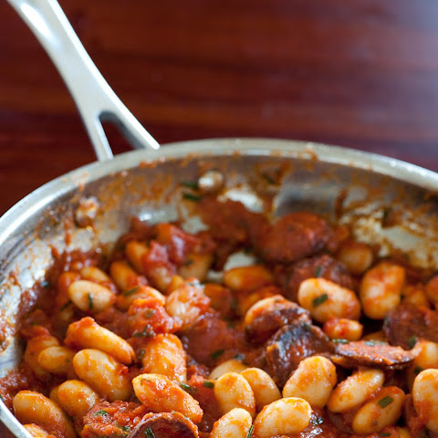 Butter Beans With Tomato & Chorizo