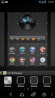 Screenshot of Chrome Rings Go Launcher Theme