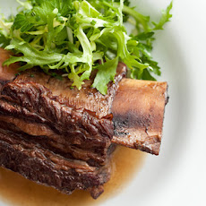 Short Ribs with Frisée-Parsley Salad Recipe