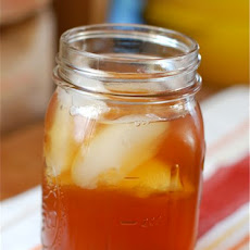Roasted Peach Iced Tea