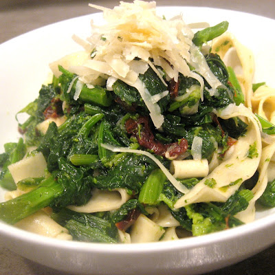 Broccoli Rabe with Sundried Tomato and Fresh Tagliatelle