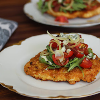 Pan-Fried Chicken with Tomato Fennel Salad