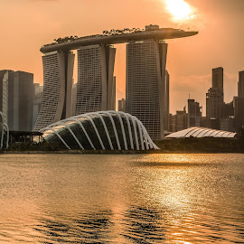 Sunset of Singapore by Charles Ong - Buildings & Architecture Office Buildings & Hotels