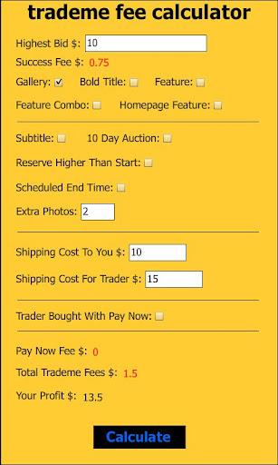 trademe fee calculator