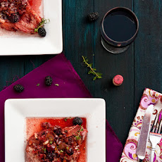 Brined Pork Chops with Blackberry Port Sauce