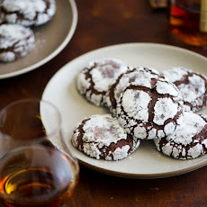 Dark Chocolate Bourbon Crack Cookies