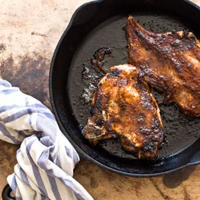 Pork Chops With Jalapeño Peach Barbecue Sauce