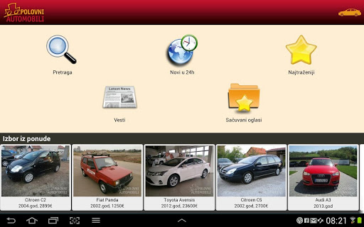 polovniautomobili for android screenshot