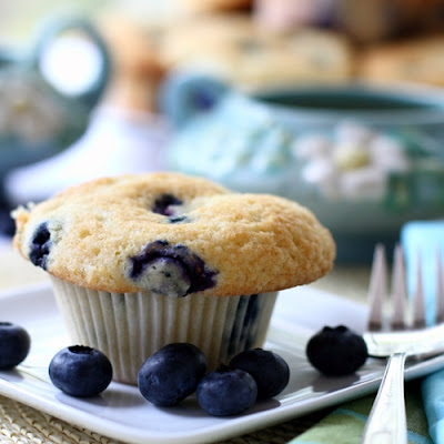 """Ok… Just One More"" Blueberry Muffins"