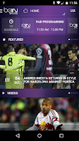 Screenshot of beIN SPORTS