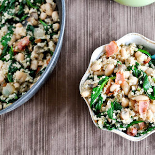 Warm White Bean and Spinach Salad