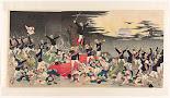 RIJKS: Kobayashi Kiyochika, Matsuki Heikichi: print 1894