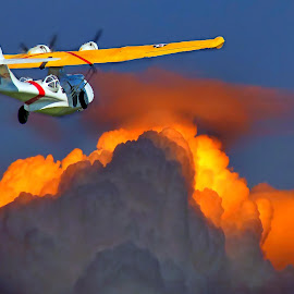 Catalina.... by Amanda Coertze - Transportation Airplanes ( clouds, airplane, catalina, aircraft, helicoptors,  )