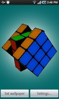 Screenshot of Scrambling Rubik's Cube
