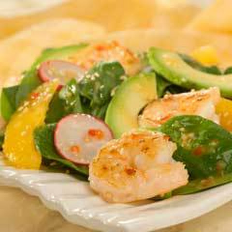 Shrimp & Avocado Spinach Salad