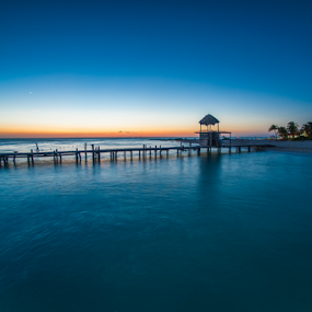 Sunset at Isla Mujeres by Cristobal Garciaferro Rubio - City,  Street & Park  Vistas ( caribbean sea, sea, isla mujeres, caribbean )