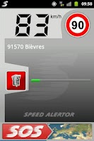 Screenshot of SpeedAlertor speedometer