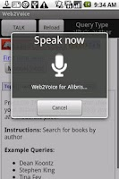 Screenshot of Web2Voice for Alibris