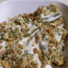 Creamy Green Beans and Stuffing Casserole
