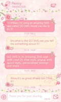 Screenshot of GO SMS Pro Love Petal Theme EX