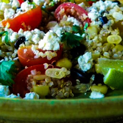 Corn, Black Bean, and Quinoa Salad