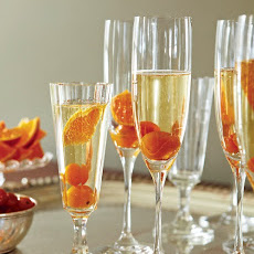 Kumquat-Champagne Cocktails