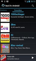 Screenshot of laut.fm Android