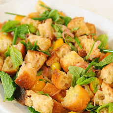 Herb Panzanella with Tomatoes and Husk Cherries