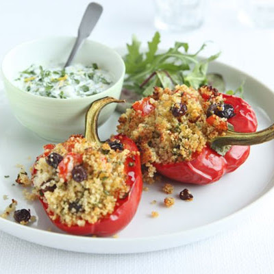Gremolata Couscous-stuffed Peppers