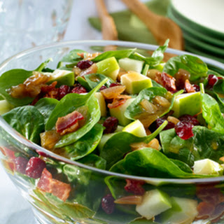 Warm Bacon & Shallot Spinach Salad