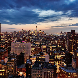 Manhattan skylines by Javan Ng - City,  Street & Park  Skylines ( skyline, manhattan, cityscape, new york city, new york, nyc )