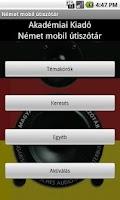 Screenshot of Hungarian-German Travel Guide
