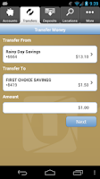 Screenshot of FNB Mobile Banking