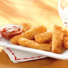 Fish Sticks with a Cheesy Marinara Dipping Sauce