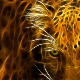 Amur by Ryan Morris - Digital Art Animals ( amur leopard digital cats spots zoo animals bigcat )