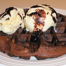Sourdough Chocolate Malt Dessert Waffles