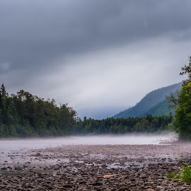 by Albert Picard - Landscapes Waterscapes ( mountain, waterscape, fog, river )