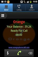 Screenshot of Orange Dialer