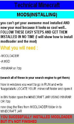 Technical Minecraft