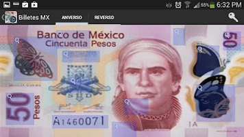 Screenshot of Billetes Monedas MX