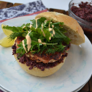 Salmon Burgers with Tapenade