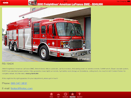 Screenshot of Used Fire Trucks by Firetec®