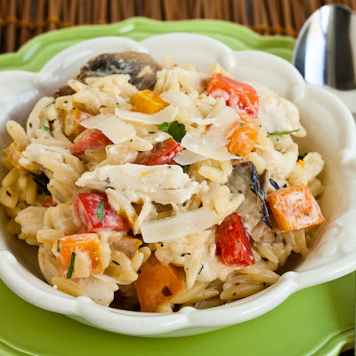 Creamy Chicken Orzo