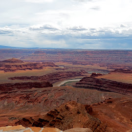 Dead Horse Point by Casey Simmons - Landscapes Deserts ( desert, storm clouds, river )