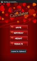 Screenshot of Love Calculator HD
