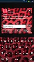Screenshot of GO SMS THEME - Red Cheetah